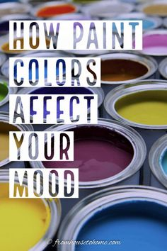 Who knew that the color you paint your home can affect your mood? Get some home decor ideas and inspiration for different shades of paint that will make you happy to live in your house. #fromhousetohome #paintcolor #decoratingtips #colorscheme #homedecor #choosingcolors Green Room Colors, Orange Paint Colors, Office Paint Colors, Room Paint Colors, Interior Paint Colors, Paint Colors For Living Room, Paint Colors For Home, My Living Room, House Colors