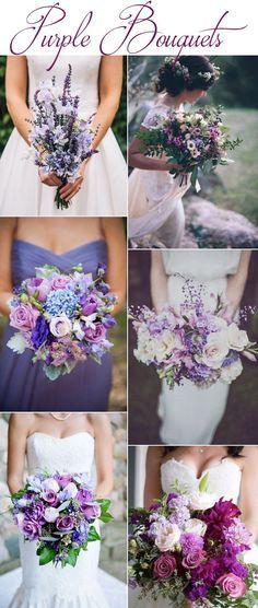Purple Wedding Bouquets More