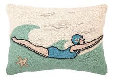 Retro Dive 14x20 Wool Pillow, Multi on OneKingsLane.com