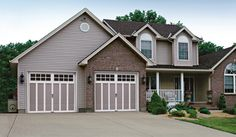 Clopay Carriage House garage doors with a steel frame are the perfect option when budget is the deciding factor.