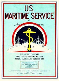 poster U.S. Maritime Service for American Seamen