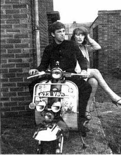 60s Mods Mod Scooter, Scooter Girl, Skinhead Girl, Girl Train, Vespa Lambretta, Vespa Scooters, Mod Look, Mod Girl, Northern Soul