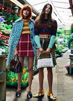 """""""On the Town"""" by Boe Marion for Marie Claire US July 2015 Dieses Produkt und weitere MIU MIU Taschen jetzt auf www.designertaschen-shops.de/brands/miu-miu entdecken"""