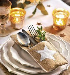Detalle de servilletero con estrella