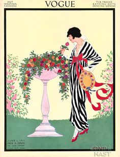 Vogue cover --- June 1913 by Helen Dryden.
