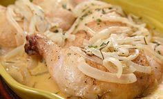 PRONACA RECETA: Pollo en salsa de cebollas y romero