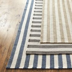 Vineyard Stripe Rug  | Rugs | Ballard Designs.  So expensive.  Crate and Barrel makes a very similar one at a quarter of the price.