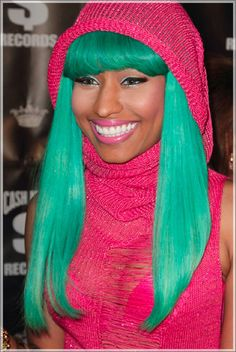 Miss Minaj... she doesn't look so hot here, but she's sporting my favvv colors so i'm using it haha. :P
