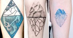 Let these breathtaking iceberg tattoos show you the real you; the beautiful…