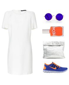 Fashion collage, how to wear running sneakers by Une tisane et au lit