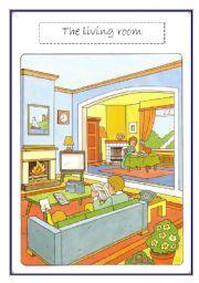 English Teaching Worksheets Living Room Vocabulary WorksheetsThe House