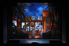 Multum in Parvo Papiertheater Mering: Giuseppe Verdi 'Aida', dritter Akt.
