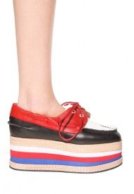 Jeffrey Campbell Top-Form Shoe in Black/White/Red  Stupid or Cool?