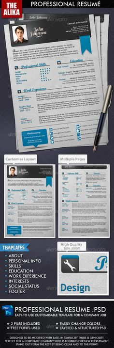 SWEET! Professional Resume $5 (Why couldn't we have these cool resumes for other peeps besides designers? LOL)
