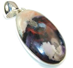 $63.85 Fabulous Design!! Tiffany Jasper Sterling Silver Pendant at www.SilverRushStyle.com #pendant #handmade #jewelry #silver #jasper