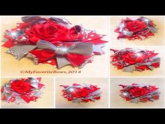 how to make a surround a bow with rhinestone mesh - YouTube