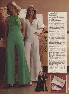 1970s Polyester Knit Jump Suit