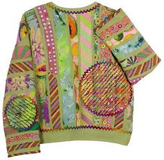 christinebarnes.com  Happy Jacket T shirt upcycle