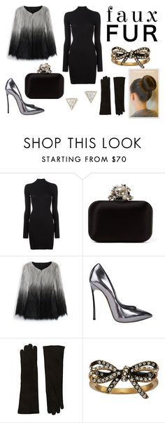 """""""faux fur coat"""" by elaristodemou ❤ liked on Polyvore featuring adidas Originals, Jimmy Choo, Chicwish, Casadei, Barneys New York, Marc Jacobs and Adina Reyter"""