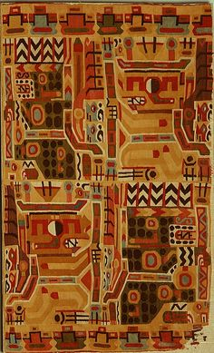 Frammento di tunica Wari - Peru, camelid hair, 600-900dc The Metropolitan Museum of Art