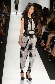 Romantic Black & White floral pantsuit @Barbara Griffin MAX AZRIA