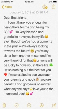 58 Ideas Quotes Birthday Friendship Bff For 2019 Friendship Quotes Happy Birthday Best Friend Quotes, Birthday Quotes For Best Friend, Quotes For Best Friends, Letter For Best Friend, Happy Birthday Text, Birthday Bestfriend Quotes, Special Birthday, Best Friend Birthday Letter, Msg For Best Friend