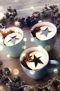 Estrellas de manzana para el té o el ponche.