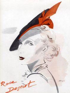 millinery   Rose Descat (Millinery) 1938 Hat   Hprints.com