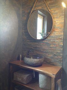 Plan vasque réalisé en chêne massif, vernis mat. Mirror, Bathroom, Furniture, Home Decor, Solid Oak, Washroom, Bath Room, Interior Design, Bath