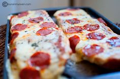 Pizza bread.... omg was great for dinner last night. Shaved ham pineapple tidbits and alfredo sauce with bell peppers and cheese. Cheap easy and definitely a crowd pleaser