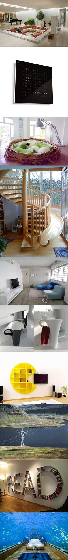 :) Stair Slide, Slide Staircase, Bed Slide, Spiral Staircases, Nest Design, Stair Decor, Creative Storage, Creative Ideas, House Stairs