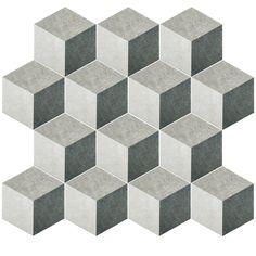 "EliteTile Transit 8.63"" x 9.88"" Porcelain Mosaic Tile in Gray"