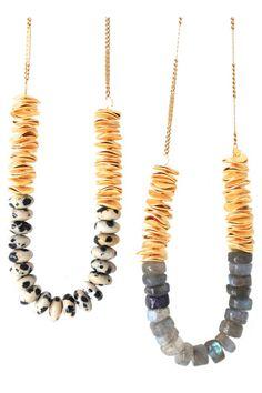 go-to neutral beaded necklace. #craftsandlove
