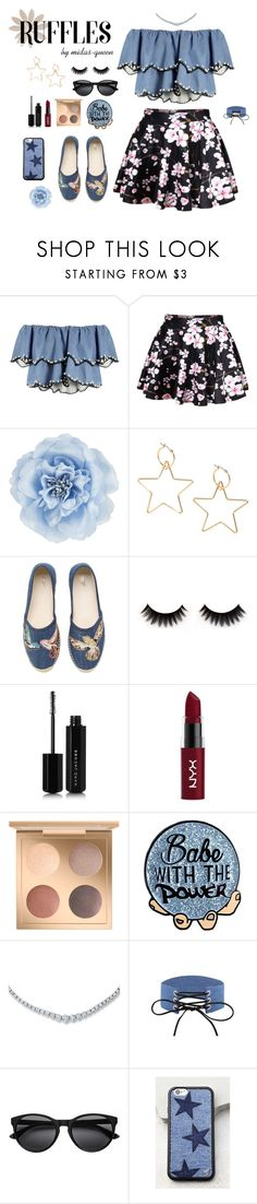 """""""Ruffles [contest]"""" by midas-queen ❤ liked on Polyvore featuring HUISHAN ZHANG, WithChic, Monsoon, RED Valentino, Marc Jacobs, NYX and Wildflower"""