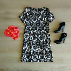 Vestido Tubinho em Preto e Branco! Maravilhoso!   Patris Boutique, prazer em vestir você!