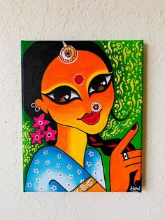 Pichwai Paintings, Simple Canvas Paintings, Easy Canvas Art, Indian Art Paintings, Modern Art Paintings, Poster Color Painting, Mural Painting, Poster Colour, Madhubani Art