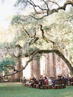 Southern Real Wedding among Old Church Ruins   Wedding Sparrow   Landon Jacob Photography