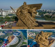 God Of War Zhao Yun A Chinese Historical Wuxia China - China unveils colossal 1320 ton god of war statue