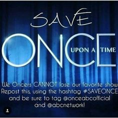 #SAVEONCE we have to save the show