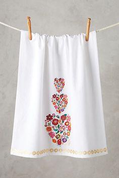 Sweet Heart Floral Dishtowel