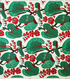 Josef Frank - Austrian-Swedish architect, artist and designer. Amazing print for a chair or something. Motifs Textiles, Textile Prints, Textile Patterns, Cool Patterns, Textile Design, Flower Patterns, Print Patterns, Surface Pattern, Surface Design