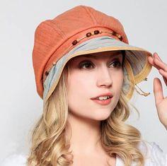 Leisure button bcuket hat for women UV protection sun hats summer wear