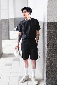 Korean Fashion – Designer Fashion Tips Korean Fashion Men, Asian Fashion, Men Fashion, Latex Fashion, Gothic Fashion, Short Outfits, Casual Outfits, Fashion Outfits, Smart Casual Menswear