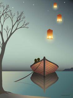 Lanterner plakat fra ViSSEVASSE - køb den her!