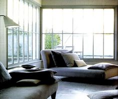 All I keep thinking when I look at all those windows is brr.. but that chaise is to DIE FOR!
