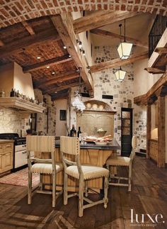 Rustic Charm for your Kitchen.  fromdustjacket attic