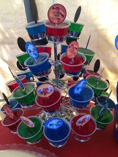 Ninjago Jello Stand in Place of Cupcakes 😋 Pj Masks Birthday Cake, 3rd Birthday Party For Boy, Godzilla Birthday Party, Birthday Ideas, Pj Mask Party Decorations, Party Themes, Party Ideas, Pjmask Party, Festa Pj Masks