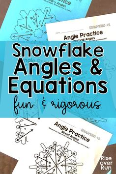 This angle activity is so fun! Students find missing angles and solve equations using angle relationships in this engaging winter activity! Vertical angles and supplementary angles are drawn on snowflakes with missing measures. Great for - grade math! Geometry Activities, Fun Math Activities, Math Resources, Educational Activities, Math Games, Relationship Quotes Instagram, Relationship Videos, Relationship Tattoos, Godly Relationship