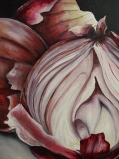 Still Life Onion Painting in Oil