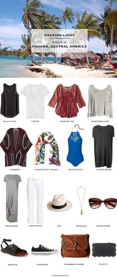 What to Pack for Panama - Packing Light Two Lists in One